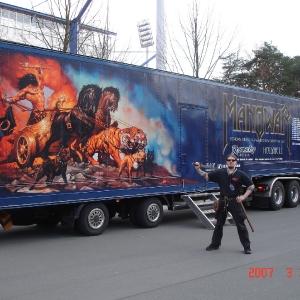 Na trasie i scenie z Manowar, 2007 r.